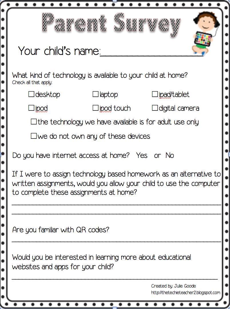 homework survey for parents