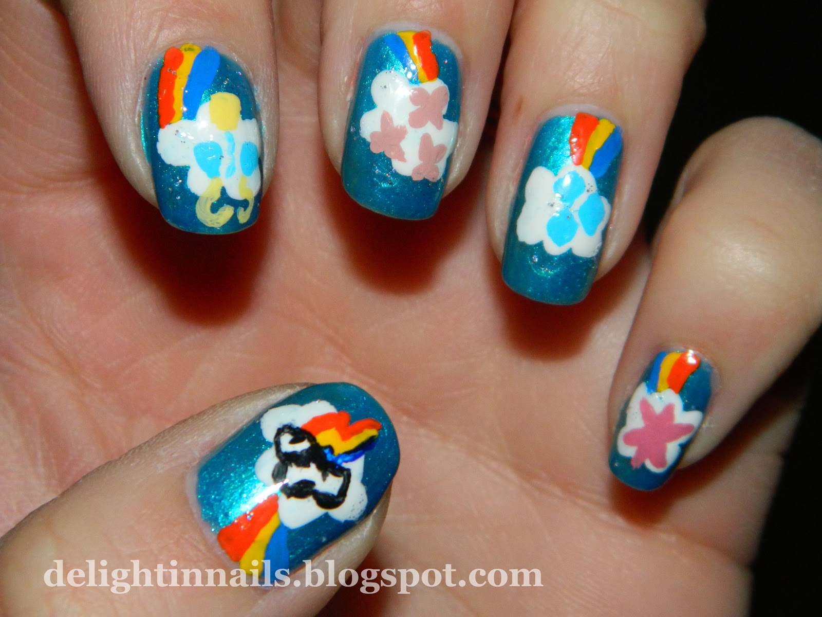 Delight In Nails: My Little Pony Nail Art for Rainbow Honey Nail Art ...