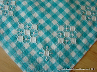"Chicken scratch table cloth, from ""Embroidery Companion"" by Alicia Paulson"