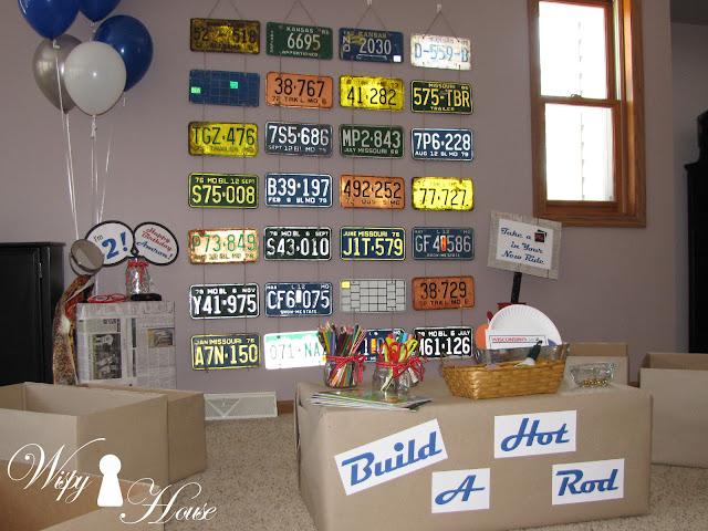 Decorating Ideas Wispy House Vintage 50s Car Garage Party 065649 Hot Rod