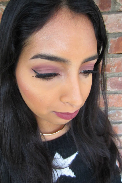 fall makeup mauve tutorial colourpop lorac loreal