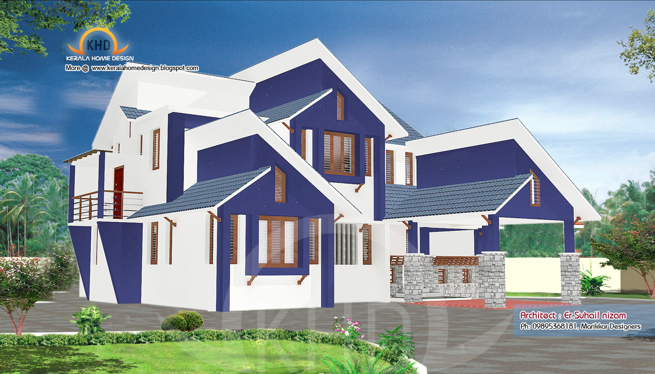 Ground Floor Elevation In Kerala : Home plan and elevation sq ft kerala design