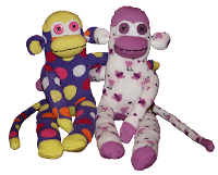 win cute sock monkeys