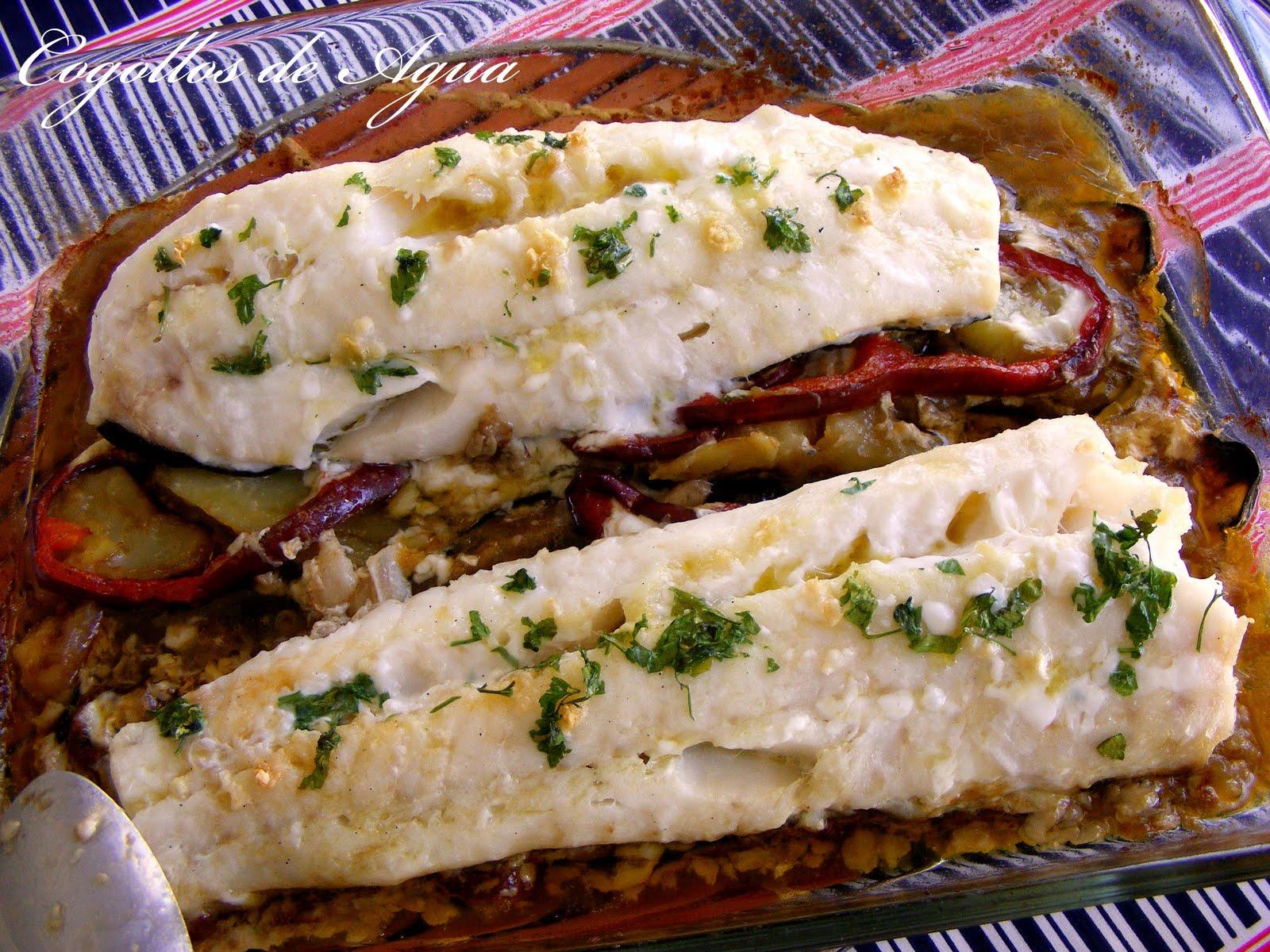 Bacalao al horno con verduras cogollos de agua for Como cocinar bacalao al horno
