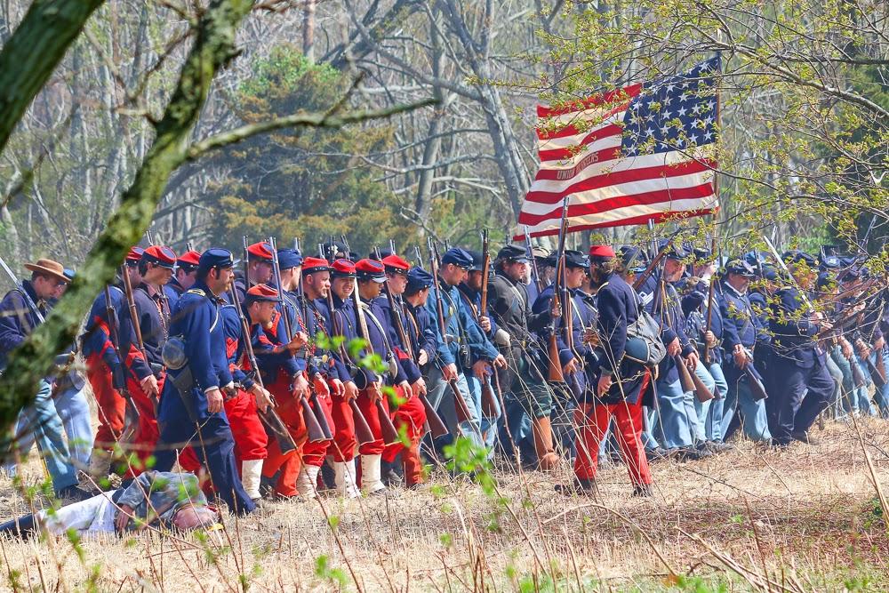 Civil War Reenactor Neshaminy 2015