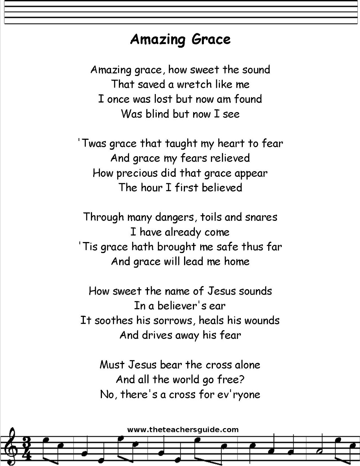 Amazing Grace Lyrics - YouTube