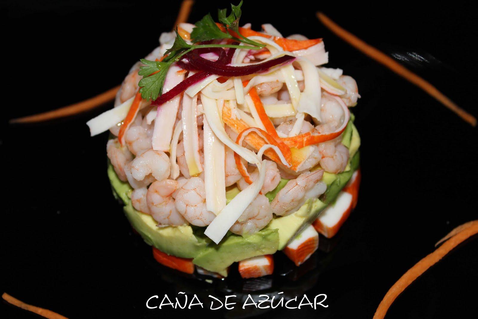 Ca A De Az Car Tu Blog De Cocina Timbal De Aguacate Surimi  ~ Coctel De Aguacate Y Langostinos