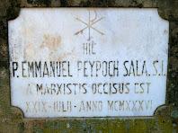 Làpida recordatòria del jesuïta Manuel Peypoch Sala