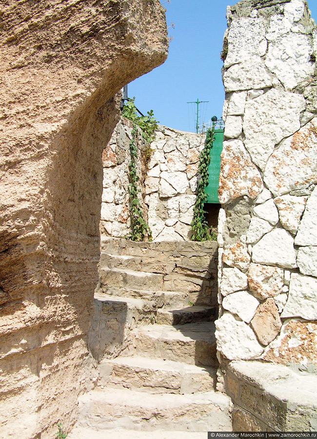 Каменная лестница на мысе Калиакра