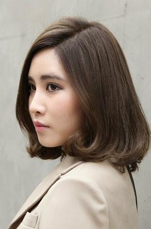 Gaya Model Rambut Sebahu Wanita Korea 2017/2018