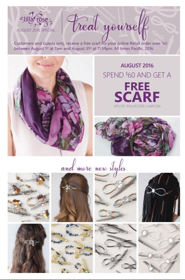 A special scarf offer from Lilla Rose
