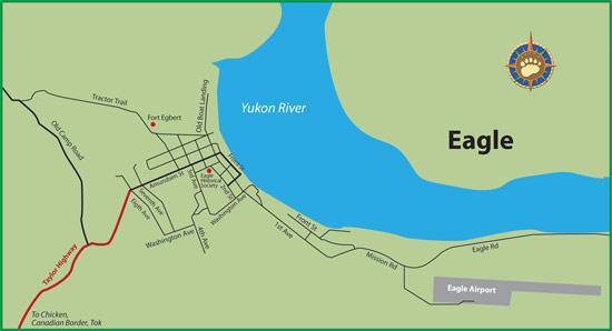 Maps Of Alaska Roads By Bearfoot Guides Map Of Eagle Alaska