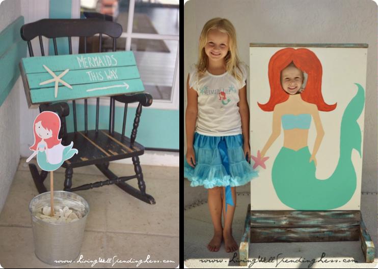 Fiesta de La Sirenita y motivos de playa