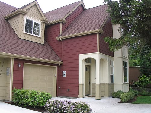 Paint color combinations popular home interior design sponge - Exterior house colors brown ...