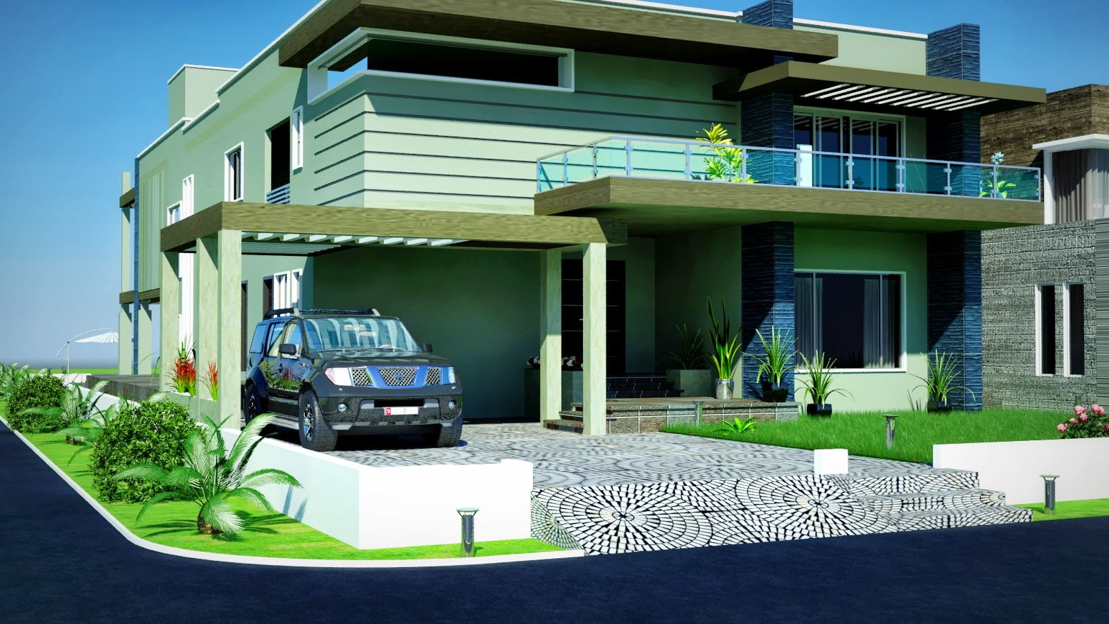KANAL DHA Modern HOUSE IN UNDER PROCESS