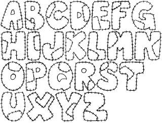 Molde para feltro abecedalho