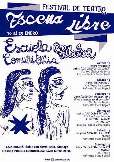 SANTIAGO CENTRO: FESTIVAL DE TEATRO, ESCENA LIBRE