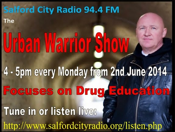 "Listen to my ""Urban Warrior"" radio show every Monday night 4 - 5pm!"