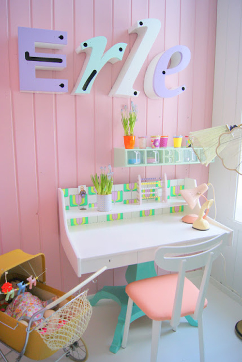 v r 3 Bright Pastel Little Girls Room in Norwegian Style from Theas Mania