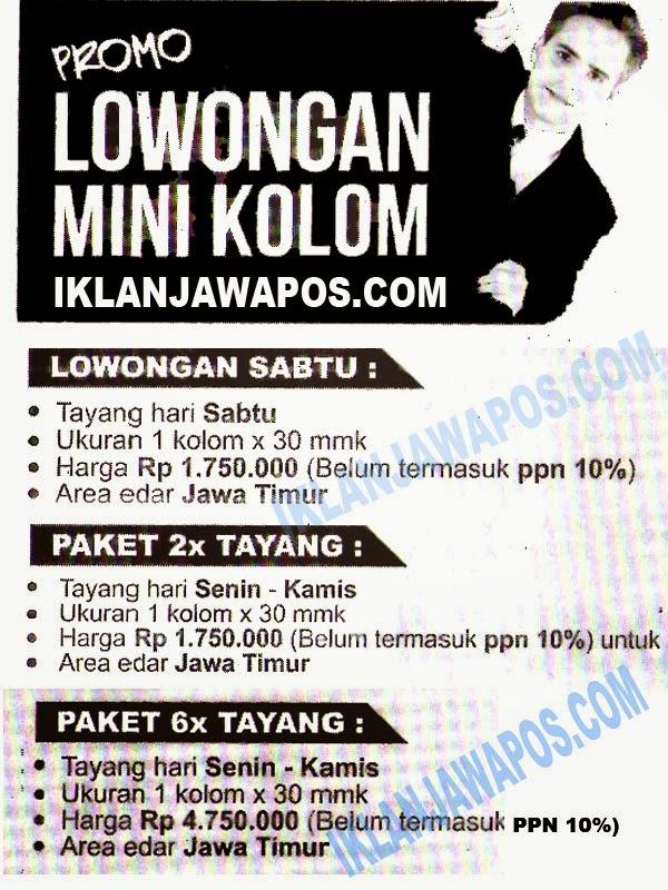 Promo Iklan Jawa Pos Lowongan Mini Kolom 2014