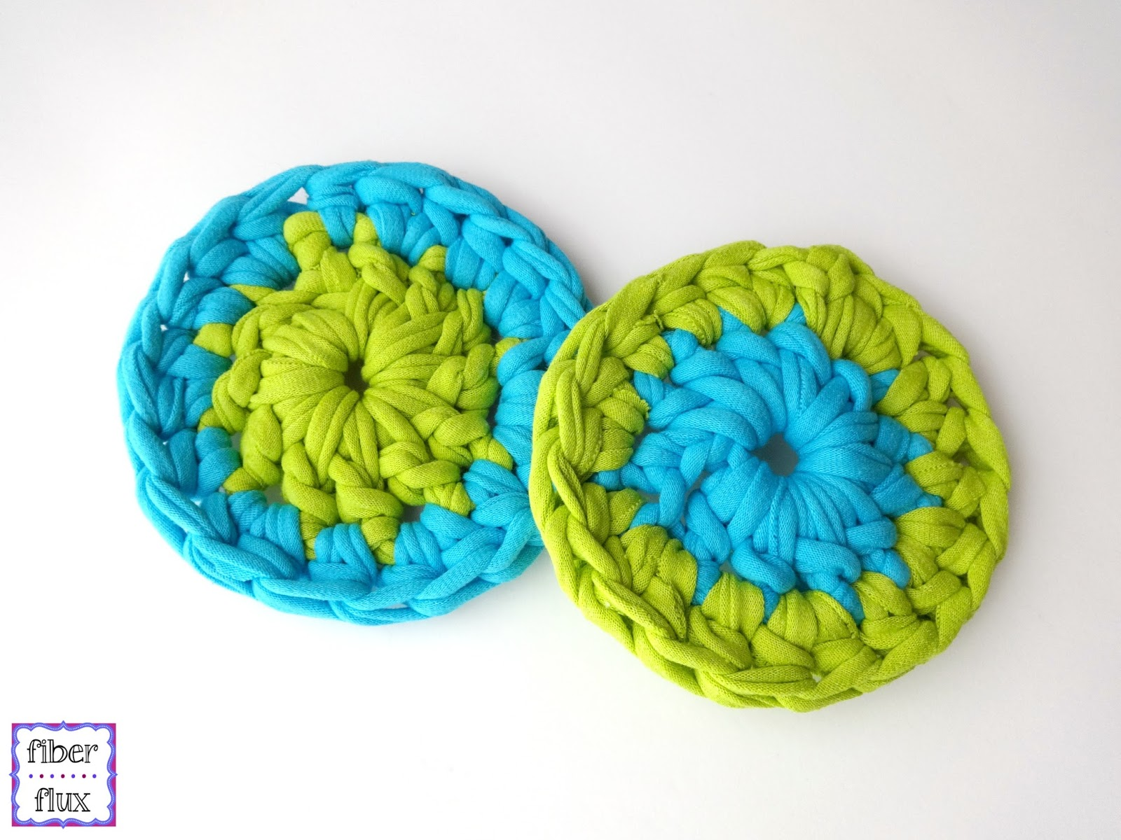 Free Crochet Patterns Tshirt Yarn : Fiber Flux: Free Crochet Pattern...T-Shirt Yarn Coasters!