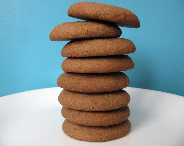 biscuits sans gluten au teff et au beurre d'arachides/gluten free teff and peanut butter cookies