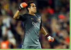 Barcelona escoge atajadas de Bravo como las segundas mejores de la historia del club