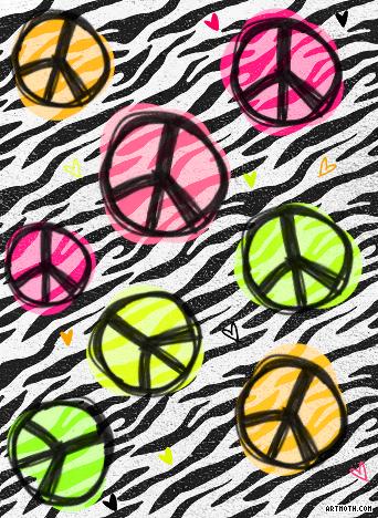 bg zebra print peace