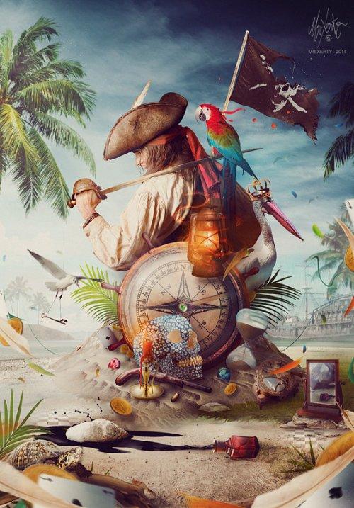 Brice Chaplet Mr-Xerty deviantart photoshop surreal foto-manipulações