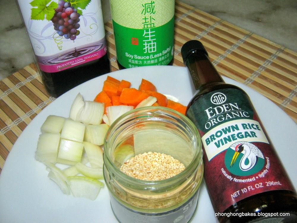 phong hong bakes and cooks japanese sesame salad dressing