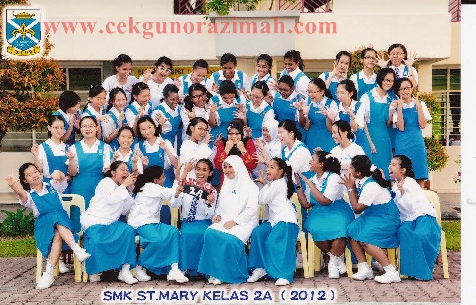 2012 : 2A di SMK St Mary