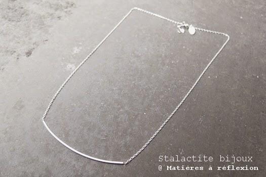 Collier jonc argent Stalactite Paris