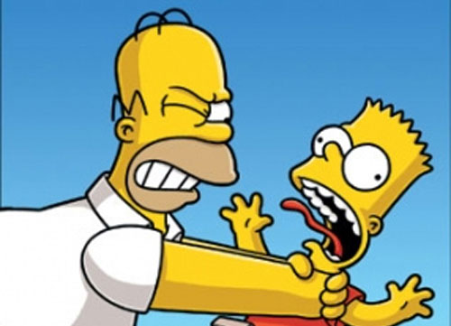 Barcelona dreamers top cartoon characters - Homer simpson and bart simpson ...