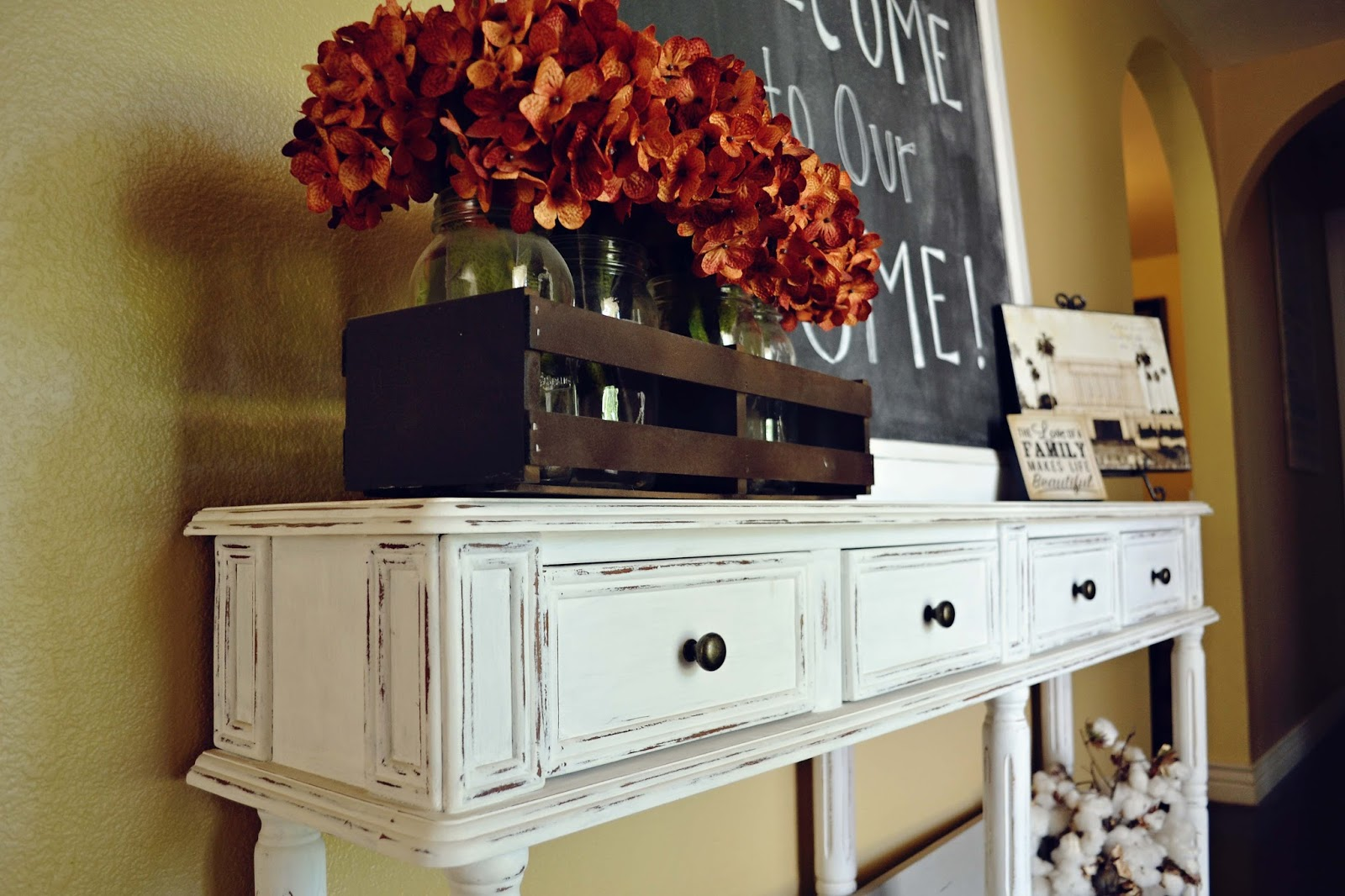 Babblings And More Entry Table And Chalkboard Makeover