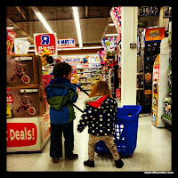 Children shopping