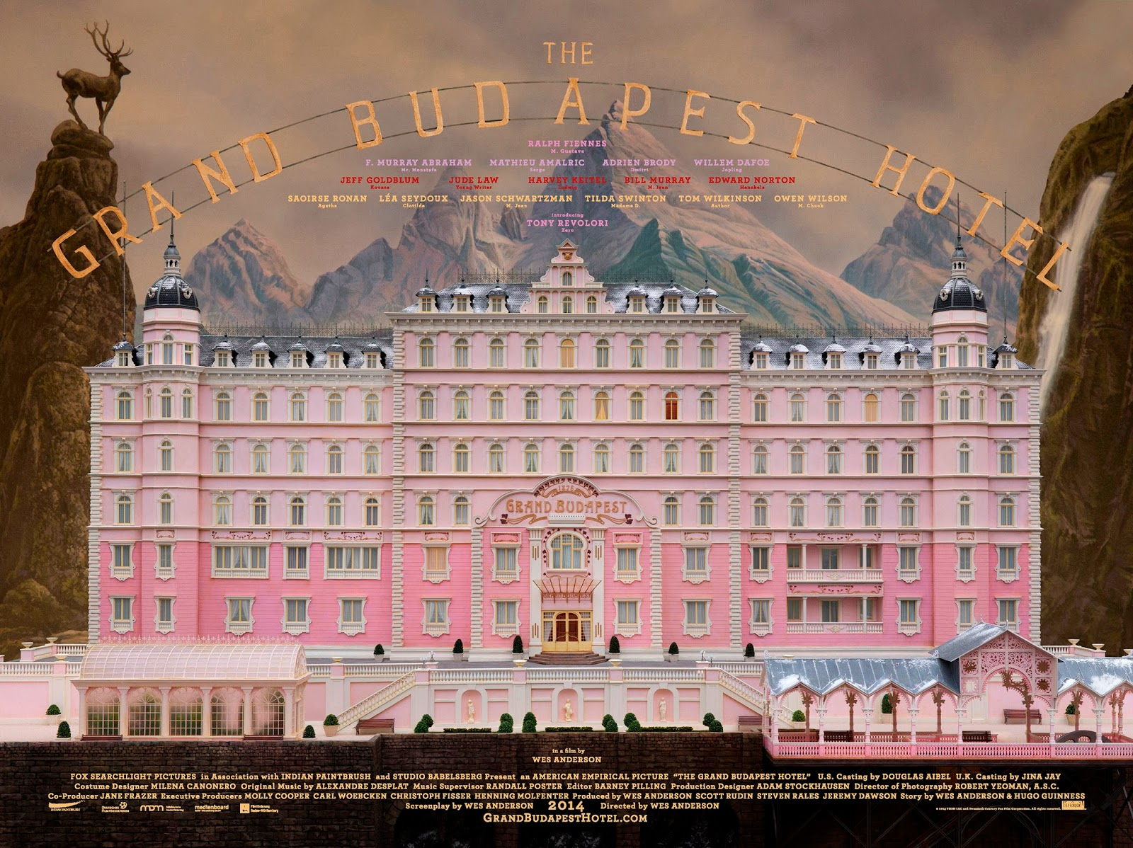 The grand budapest hotel 2014 directed by wes anderson for Hotel budapest