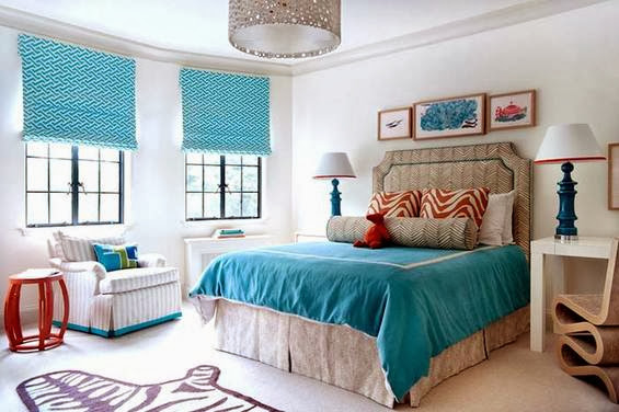 master bedroom design ideas in turquoise color