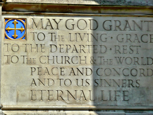Benediction Panel on the Side of Westminster Abbey