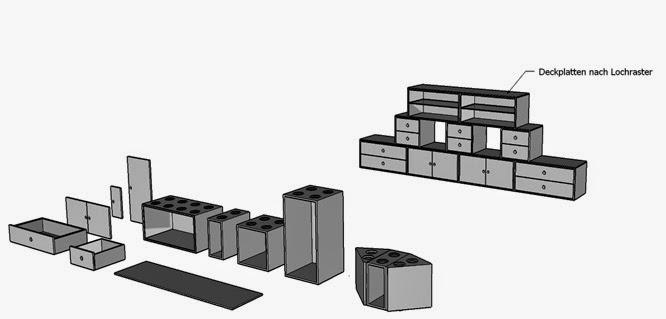 MODULARE MÖBEL - MÖBELMONTAGE NACH LEGOPRINZIP