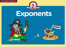 http://mathgames4children.com/fun-board-games/6th-grade/pirate/exponents-pirate-waters-grade-6-game.html