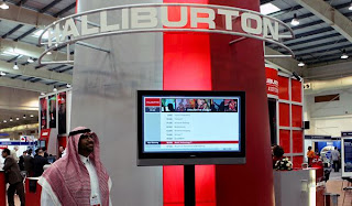 Photo f Halliburton Booth at an oil industry trade show