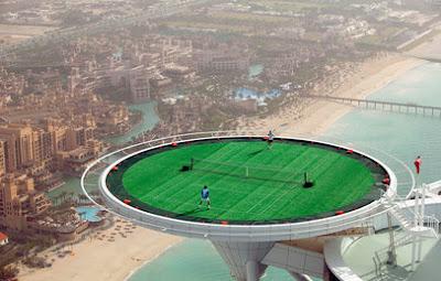 DUNIA'KU MARHAEN: Tennis On A Helipad
