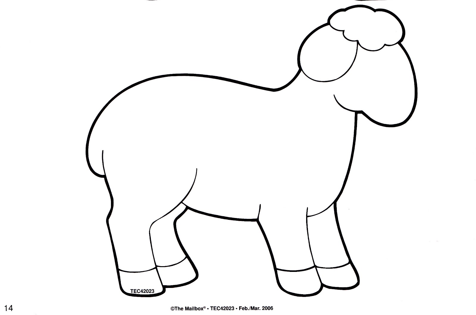 Sheep coloring page printable another sheep template for