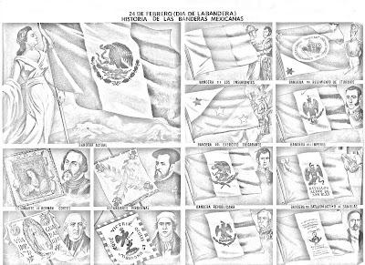 Banderas de México para colorear