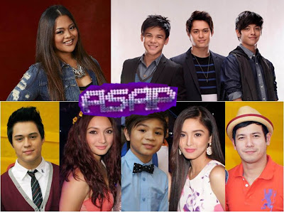 ASAP 2012 on June 17: Cheesa Laureta, Khalil Ramos, Daniel Padilla and Enrique Gil, Step My Step Segment with Javy Gil, John and Paolo Prats, John Paul and Kim Chiu, Iya Villania and Bugoy Carino