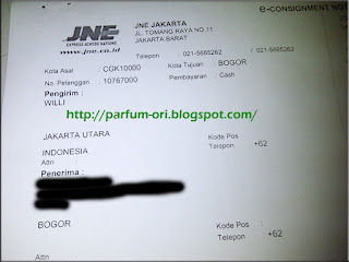 Pengiriman Parfum ke Bogor, Jawa Barat.