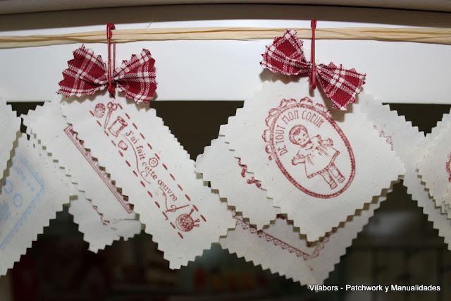 Kits de telas estampadas con sellos de motivos Vintage