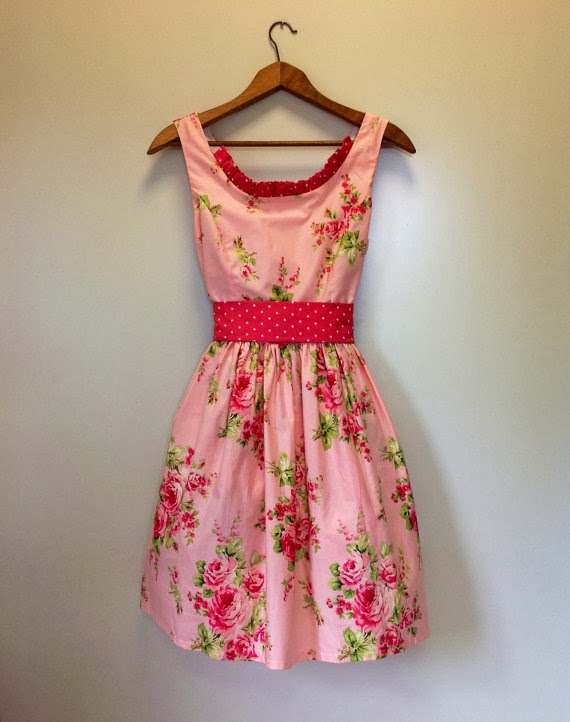 Hunnah-Lea Tea Dress Vintage Fabric