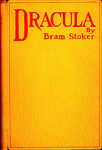Book cover The Dracula Written by Bram Stoker   free license