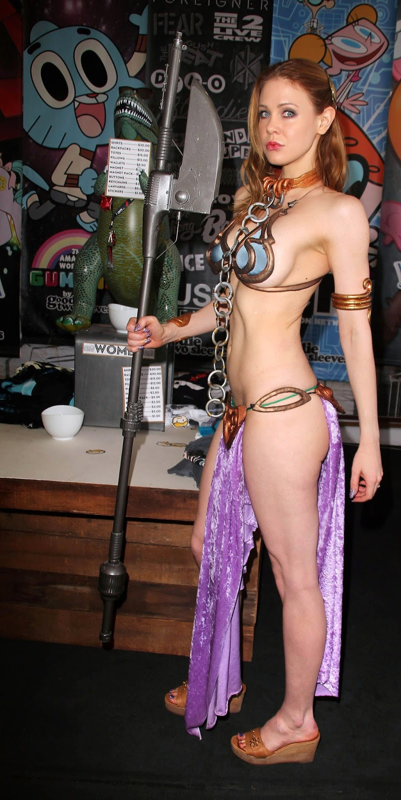 Princess Leia (Maitland Ward) Photoshoot at Meltdown Comics in LA